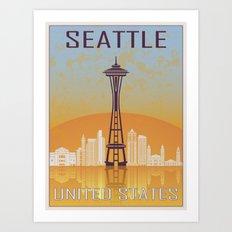 Seattle Vintage Poster Art Print