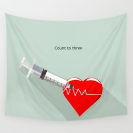 Shot to the heart - Pulp fiction Overdose Needle Scene needle for injection  Wall Tapestry
