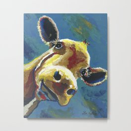 Cow Art, Colorful cow art print Metal Print
