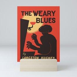 Retro The Weary Blues (music) Mini Art Print