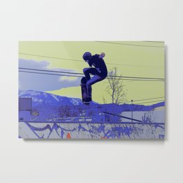 Getting Air - Skateboarder Metal Print