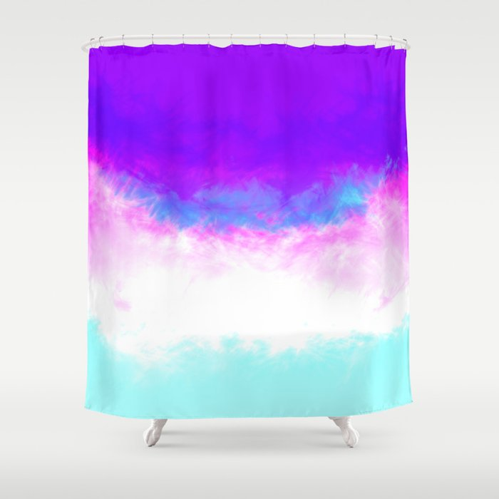 vibrant pastel marble-ish Shower Curtain by fals | Society6