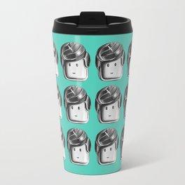 Minifigure Pattern – Teal Travel Mug