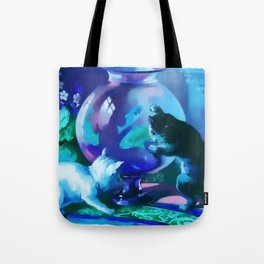 Kittens with Goldfishes Tote Bag