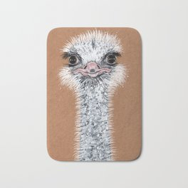 Ostrich animal Bath Mat