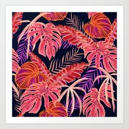 Dark tropical #nature #pattern Art Print