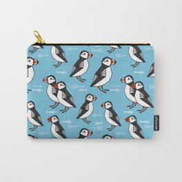 Gathering of Puffins Carry-All Pouch