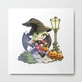 Halloween Morrigan Metal Print