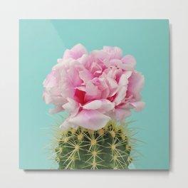 Cactus peony Metal Print