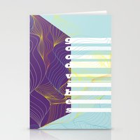 good vibes Stationery Cards featuring GOOD VIBES by Urban Artist