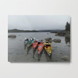 Kayaks in the Rainforest Metal Print