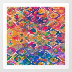 Watercolour Ikat IV Art Print