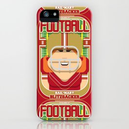 American Football Red and Gold - Hail-Mary Blitzsacker - Jacqui version iPhone Case