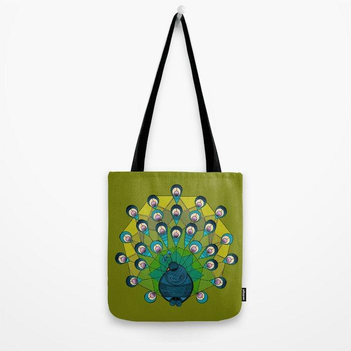 a heptagonal peacock Tote Bag