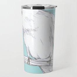 Bald-Eyed Cockatoo Travel Mug