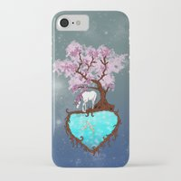 the last unicorn iPhone & iPod Cases featuring Last Unicorn by Astrablink7