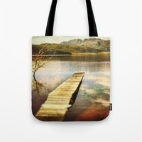 future Tote Bags featuring Future by SpaceFrogDesigns