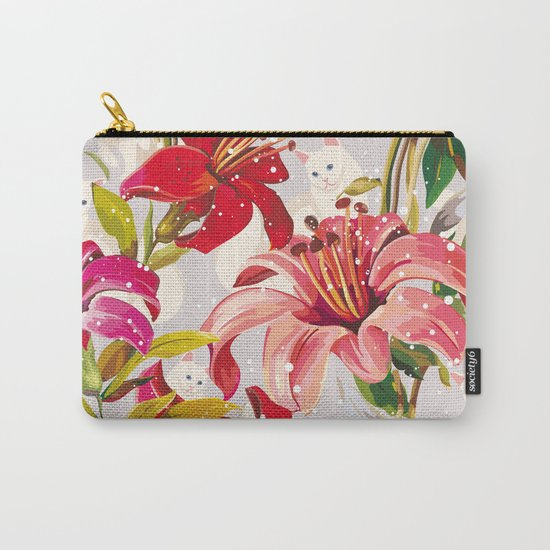 Patron flowers and cats Carry-All Pouch