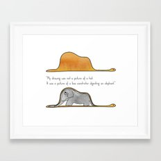 The Little Prince, a hat or a boa constrictor? Framed Art Print