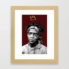 Geometric Basquiat Framed Art Print