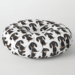 Black and Tan Shorthaired Dachshund Floor Pillow