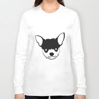 chihuahua Long Sleeve T-shirts featuring Chihuahua by anabelledubois