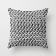 Floral Black and White Throw Pillow
