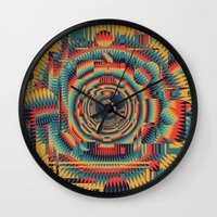 glitch Wall Clocks featuring glitch by Blaz Rojs