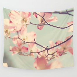 Pink Dogwood 1: Seen from below Wall Tapestry