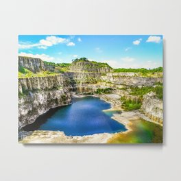 Blue Lagoon. Metal Print