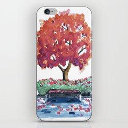 Bench Watercolor iPhone Skin