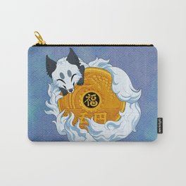 Lucky fox coin (white/blue) Carry-All Pouch
