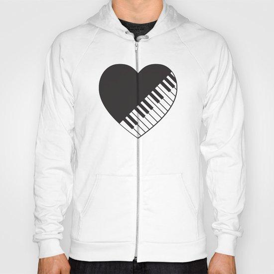 Piano Heart Hoody