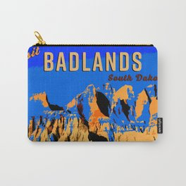 Visit Badlands Retro Postcard Carry-All Pouch