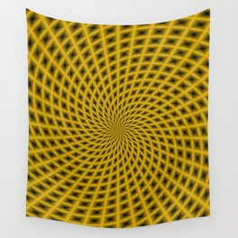 Spiral Rays in Gold Wall Tapestry