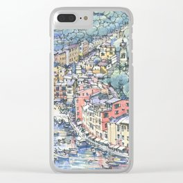 Portofino dal mare Clear iPhone Case