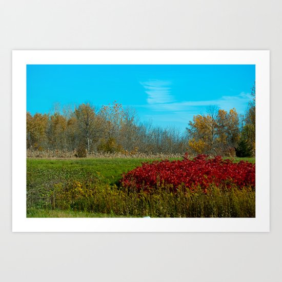Winter is quickly approching. Art Print