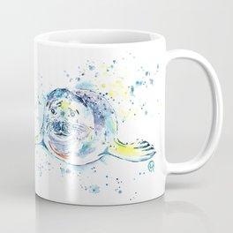 Harbour Seal Watercolor Painting - Emil Coffee Mug
