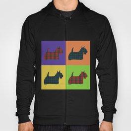 Scottie Dog - Tartan - Pop Art Style Hoody