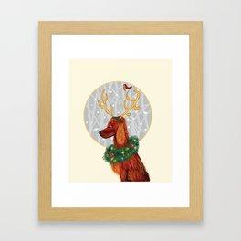 Irish Setter Christmas Framed Art Print