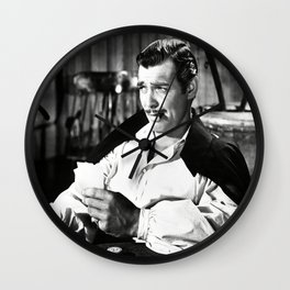 Clark Gable Playing Poker Retro Vintage Art Wall Clock