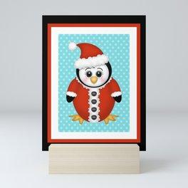Santa Penguin Mini Art Print