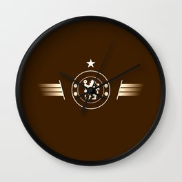 football team logo team Wall Clock