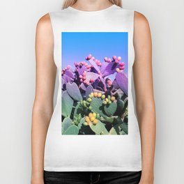 Sweet Rainbow Tropical Cactus #tropicalart #decor Biker Tank