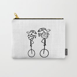 COUPLE OF BIRDS IN MONOCICLO Carry-All Pouch