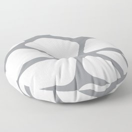 Unique gray and white organic design Floor Pillow