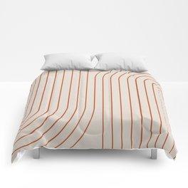 Minimal Line Curvature - Coral II Comforters