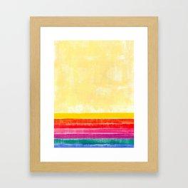 Abstract rainbow pattern in acrylic Framed Art Print