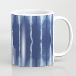 Blue shibori scratched Coffee Mug