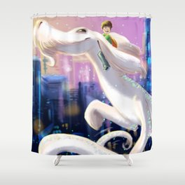 The Luck Dragon Shower Curtain